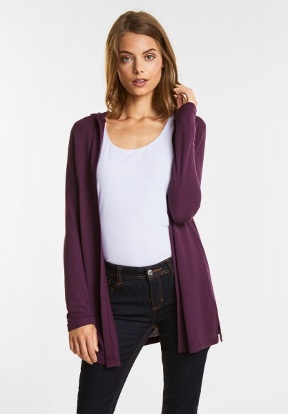 Street One Lange strukturierte Jacke in Mystique Berry