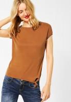 Street One - Jersey-Shirt mit Nieten-Deko in Foxy Caramel