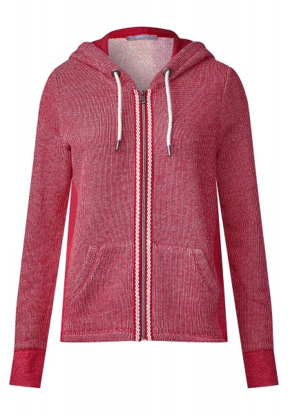 CECIL - Sportive Sweatjacke Rieke in Just Red