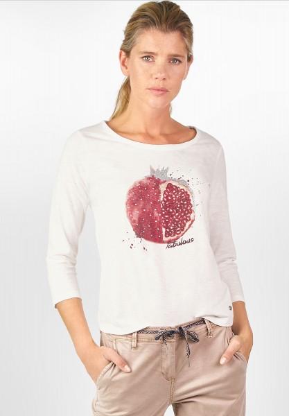 CECIL - Shirt mit Früchte-Print Pure Off White