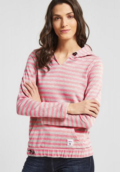 CECIL - Sweatshirt mit Streifenprint Neon Apricot