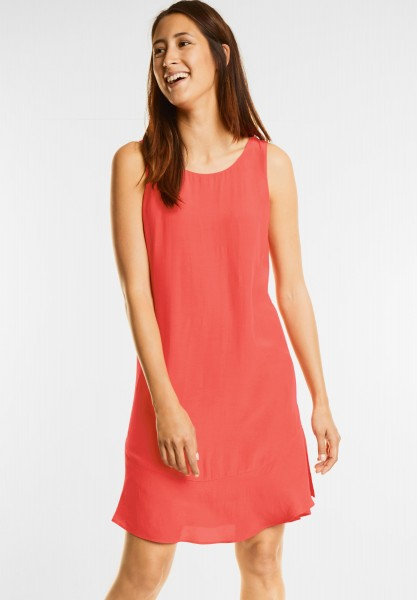 Street One - Kleid mit Volantsaum in Hot Coral