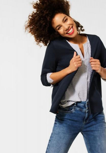 Street One - Verschlusslose Shirt Jacke in Deep Blue