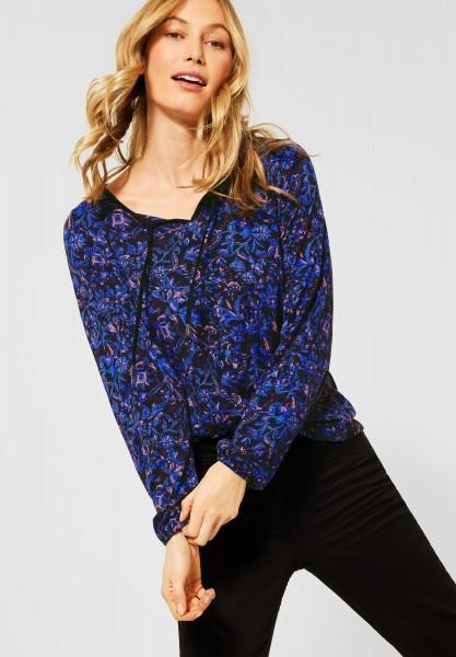 CECIL - Tunika-Shirt mit Blumen in Deep Blue