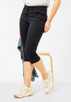 CECIL - Slim Fit Hose in High Waist in Carbon Grey