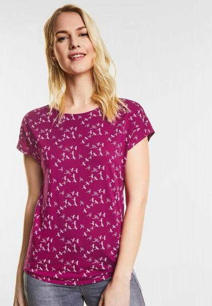 CECIL - T-Shirt mit Libellen-Print in Magic Pink