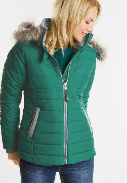 CECIL - Wetterfeste Materialmixjacke in Electric Green