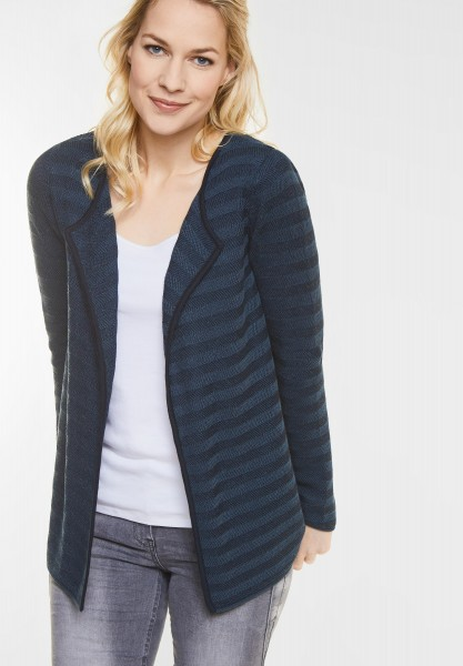 CECIL Strukturmix Open Cardigan in Deep Blue