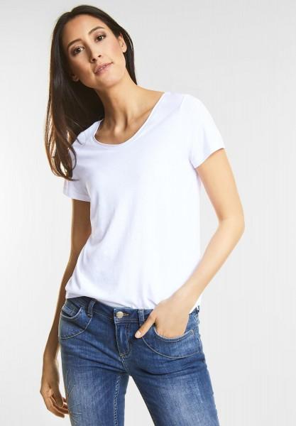 Street One Basic Style Shirt Gerda in White