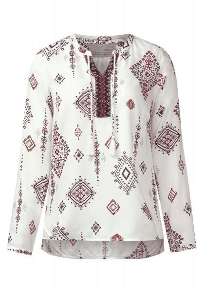 CECIL - Tunikabluse mit Ornamenten Pure Off White