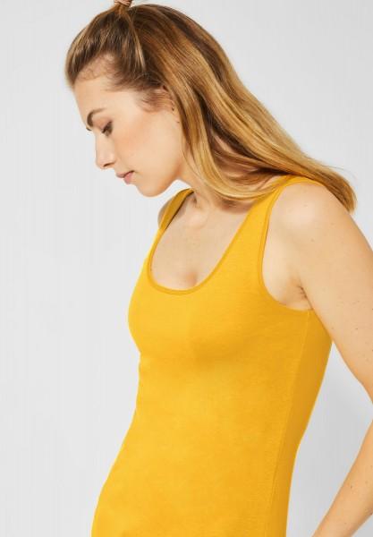 CECIL - Organic Tanktop Linda in Mango Yellow