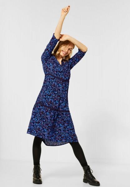 CECIL - Kleid mit Blumenmix in Deep Blue