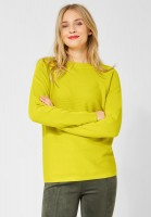 Street One - Pullover Faye mit Rippe in Lime