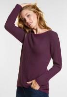 CECIL - Struktur Pullover Gabrielle in Fuchsia Pink
