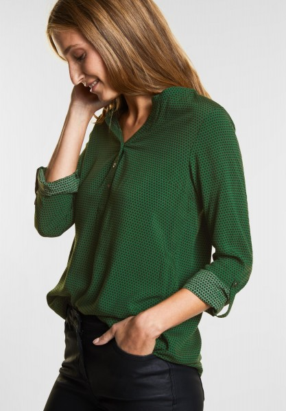 CECIL Softe Print Bluse Amara in Fresh Meadow Green