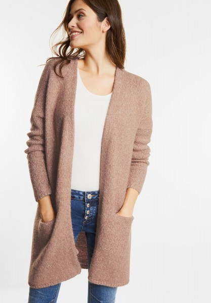 Street One - Open Style Melange Cardigan in Studio Rose Knit