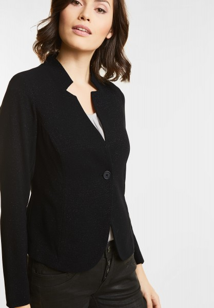 Street One - Glitzernder Sweatblazer in Black