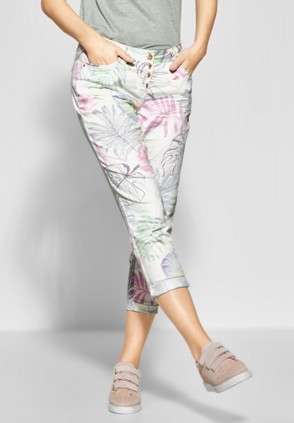 CECIL - Tropical Print Hose New York in White