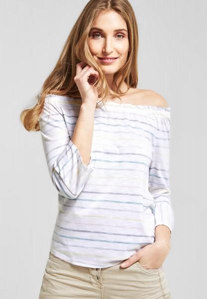 CECIL - Carmen Shirt mit Streifen in White