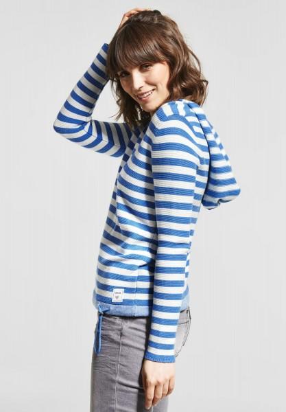 CECIL - Hoodie Pullover mit Print in Cornflower Blue