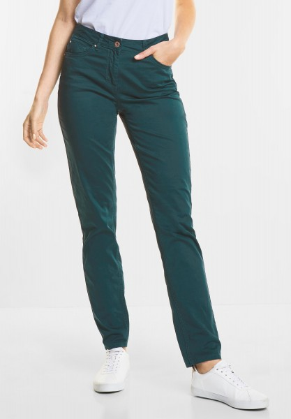 CECIL Leichte Tight Fit Hose Janet in Dark Spruce Green