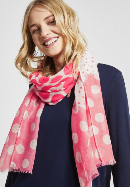 Street One - Punkteprint Mix Schal in Blossom Pink
