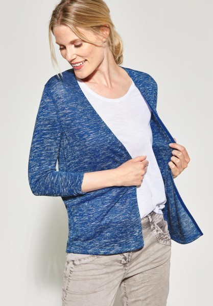 CECIL - Offene Strickjacke in Light Ink Blue Melange