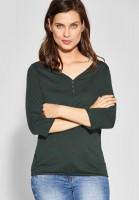 CECIL - Basic-Shirt Annika in Slate Green