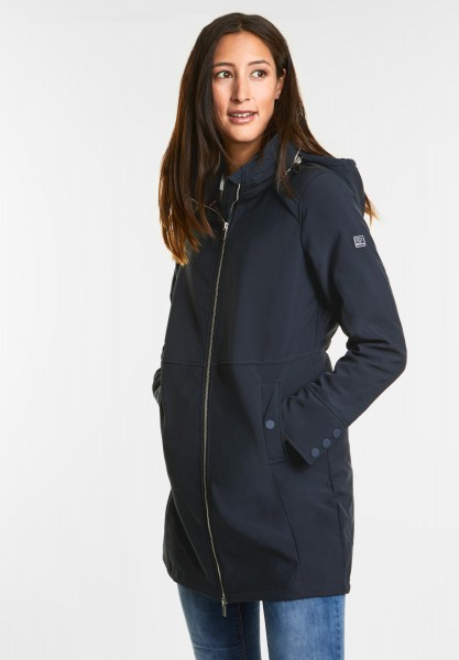 Street One Sportiv-feminine Mantel Calu in Night Blue