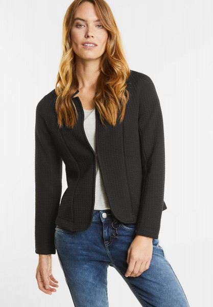 Street One - Struktur Sweatblazer Elfie in Black