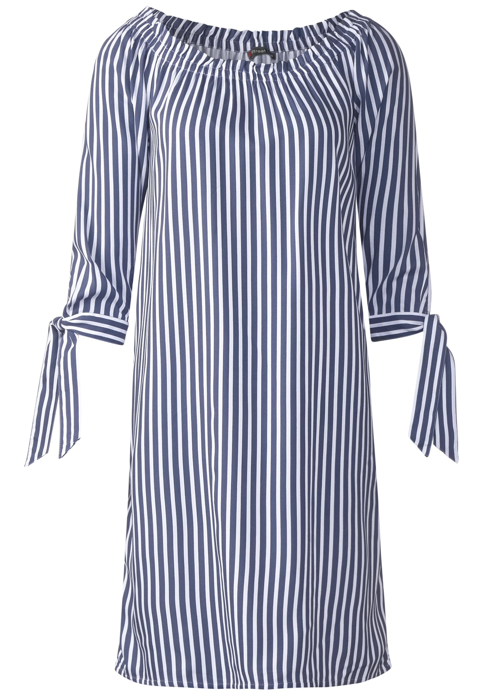 Street One - Kleid mit Carmenausschnitt in Shadow Blue