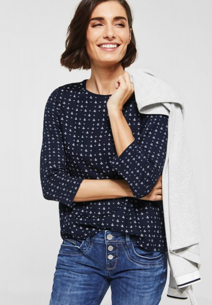 Street One - Sportliches Print Shirt in Deep Blue