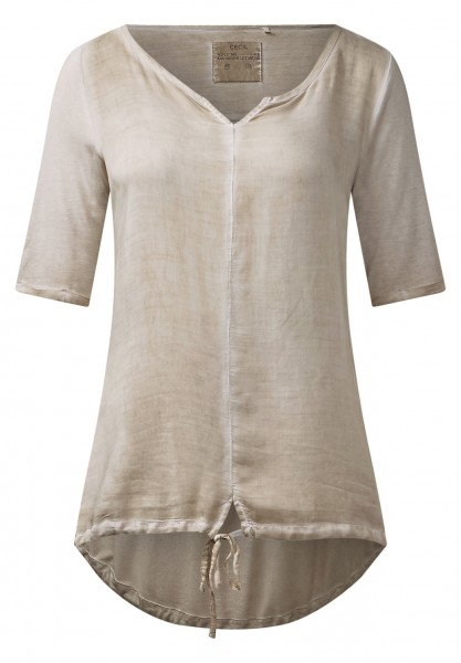 CECIL - Washed 1/2-Arm Shirt Alexa