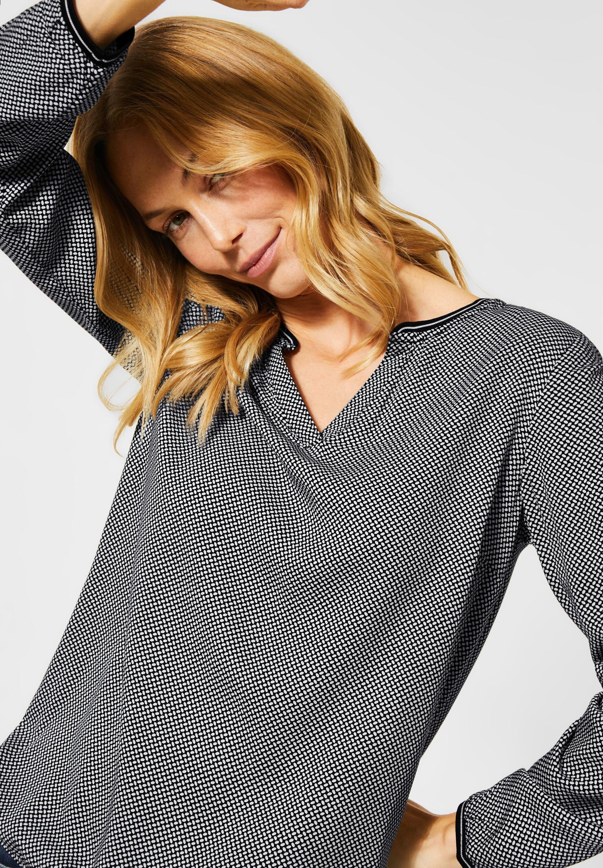 Bluse mit Minimal Print in Black von CECIL online kaufen