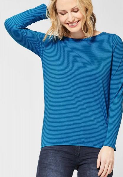 CECIL - Streifenshirt Marlena in Vivid Blue