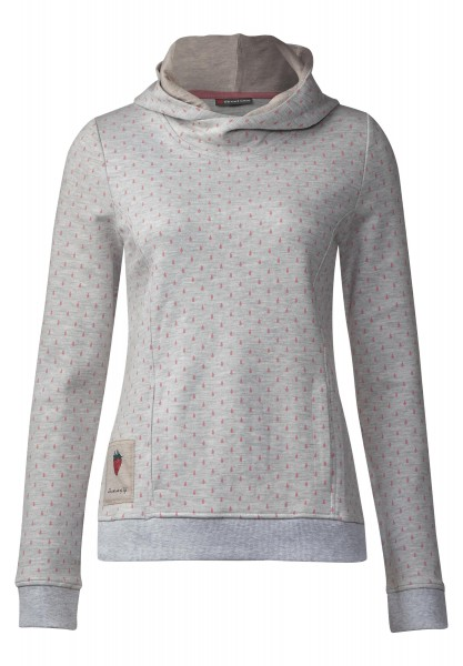 Street One - Print Sweatshirt Dalika in Cyber Grey Melange