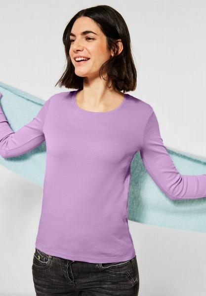 CECIL - Basic Langarmshirt in Soft Violet