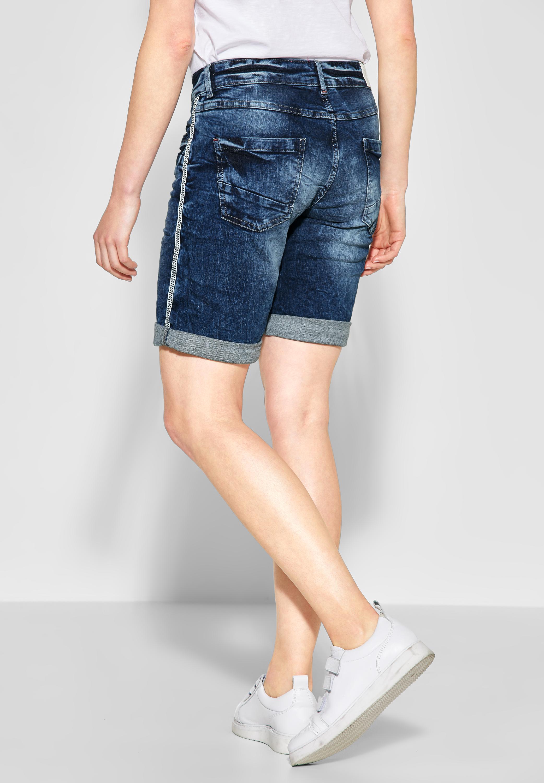 366169a52f742 ... Vorschau: CECIL - Scarlett Shorts mit Galon in Mid Blue Used Wash ...