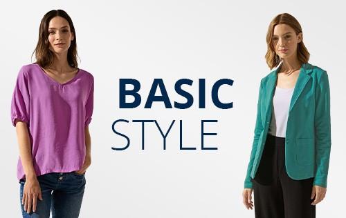 Basicsstyles von Street One und CECIL in aktuellen Farben