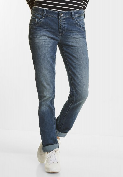 Street One - Casual Fit Denim Jane in Mid Blue Stone Wash