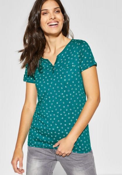 CECIL - Blumenprint Shirt Jara in Amazonia Green