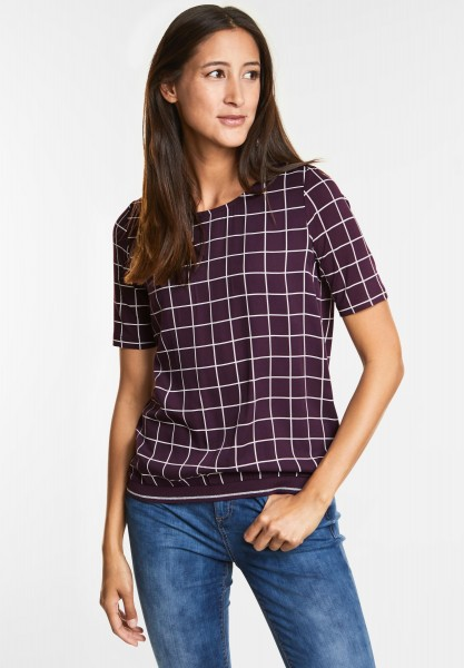 Street One Sportliches Karo Shirt in Mystique Berry