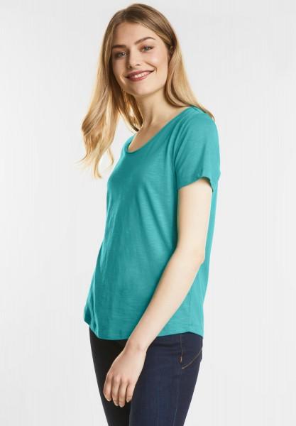 Street One - Weiches Basic Shirt Gerda in Sunny Aqua
