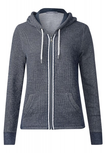 CECIL - Sportive Sweatjacke Rieke in Deep Blue