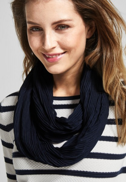 CECIL - Softer Plissee Loop Tori in Deep Blue