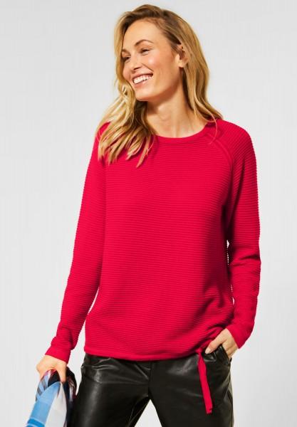 CECIL - Pullover mit Strick-Struktur in Hibiscus Red