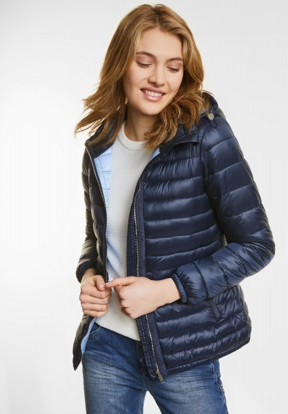 Street One - Warm wattierte Steppjacke in Night Blue