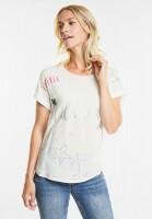 CECIL Verträumtes Print Shirt in Pure Off White