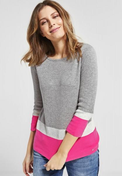 CECIL - Baumwoll Pullover in Bubblegum Pink