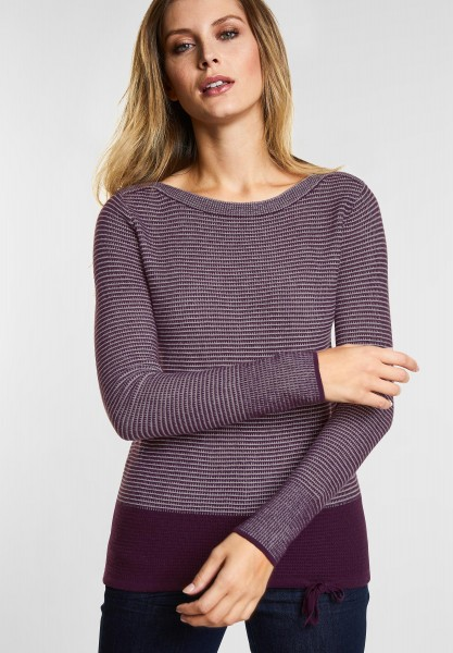 CECIL Pulli im Colorblocking-Style in Deep Berry